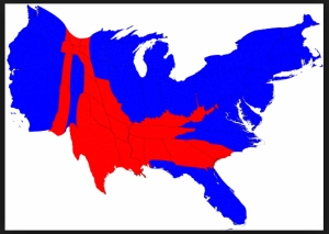 Map Red Blue