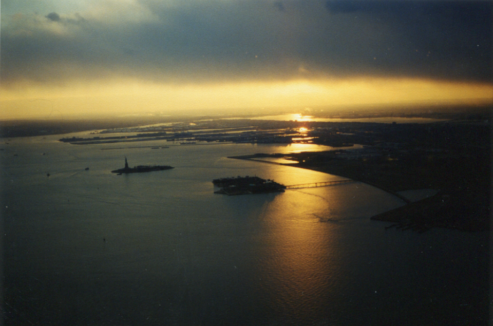 Sunset from WTC in 1999-1
