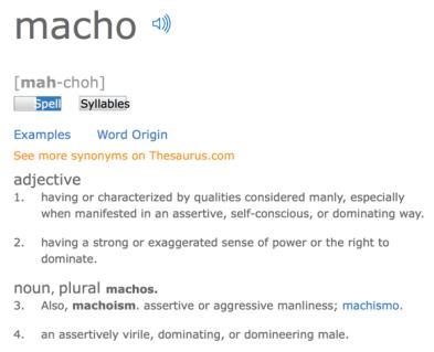 Feminine vs Macho… – RJsCorner
