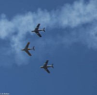 The airshow was spectacularf
