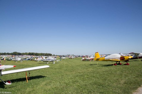 There were thousands of small aircraft at the show