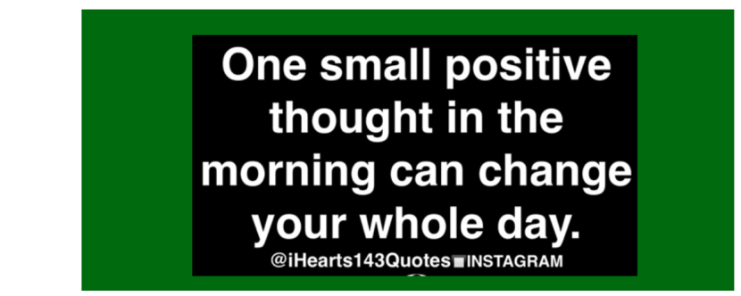 One Small Thought…